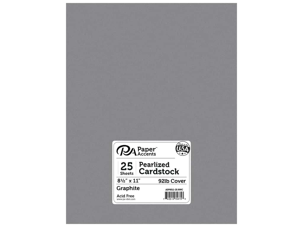 Paper Accents Cardstock 8 1/2 x 11 in. #898C Pearlized Graphite 25 pc.