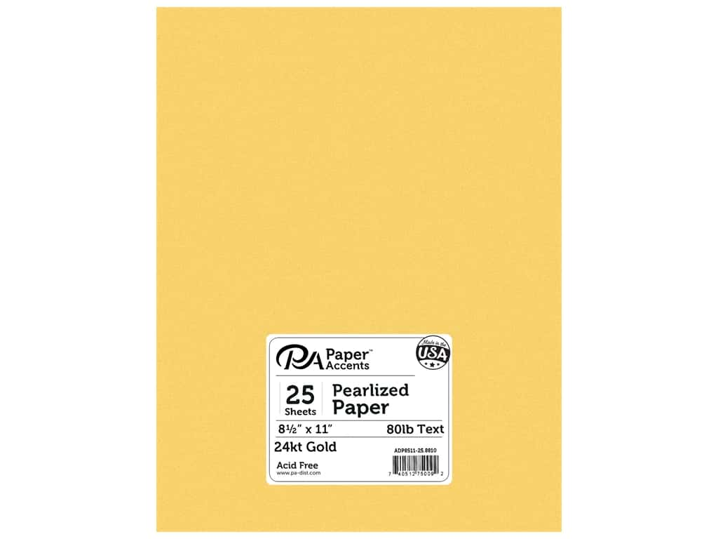 Paper Accents Pearlized Paper 8 1/2 x 11 in. #8810 24kt Gold 25 pc.