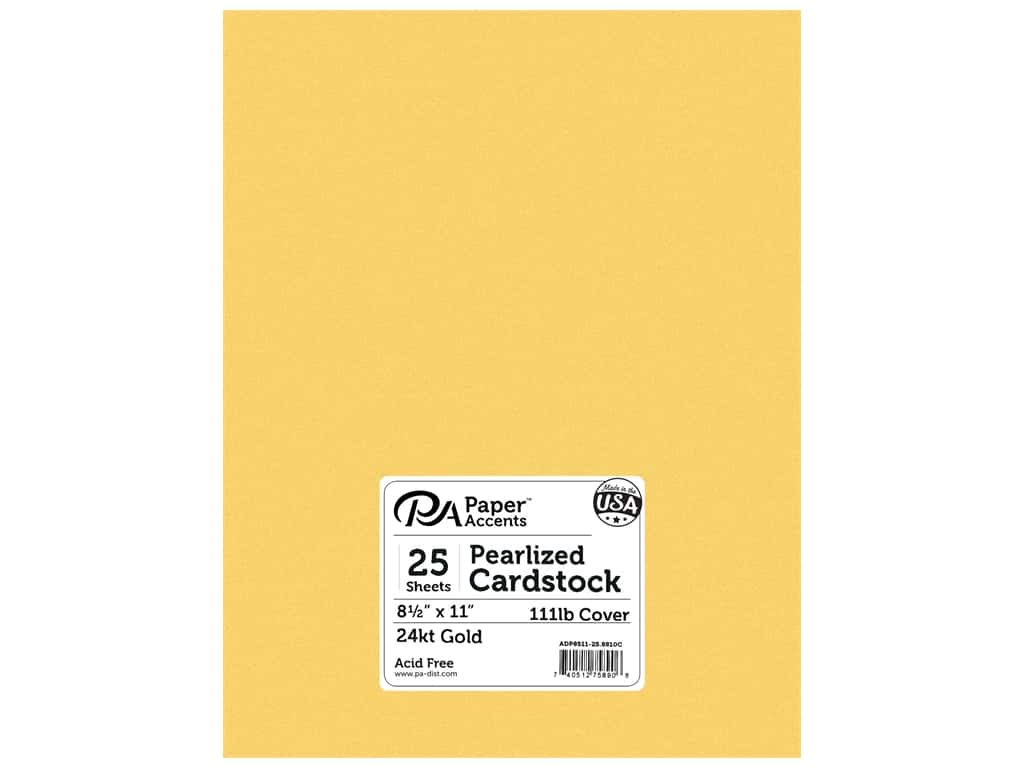 Paper Accents Cardstock 8 1/2 x 11 in. #8801C Pearlized 24 kt. Gold 25 pc.