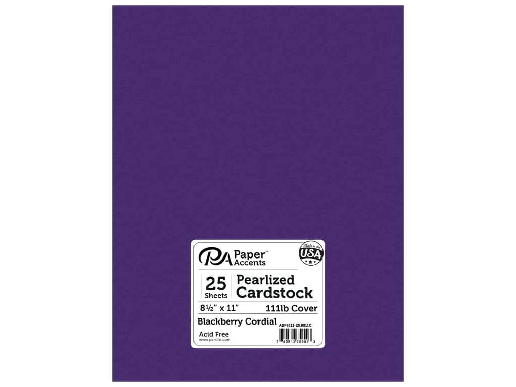 Paper Accents Cardstock 8 1/2 x 11 in. #8811C Pearlized Blackberry Cordial 25 pc.