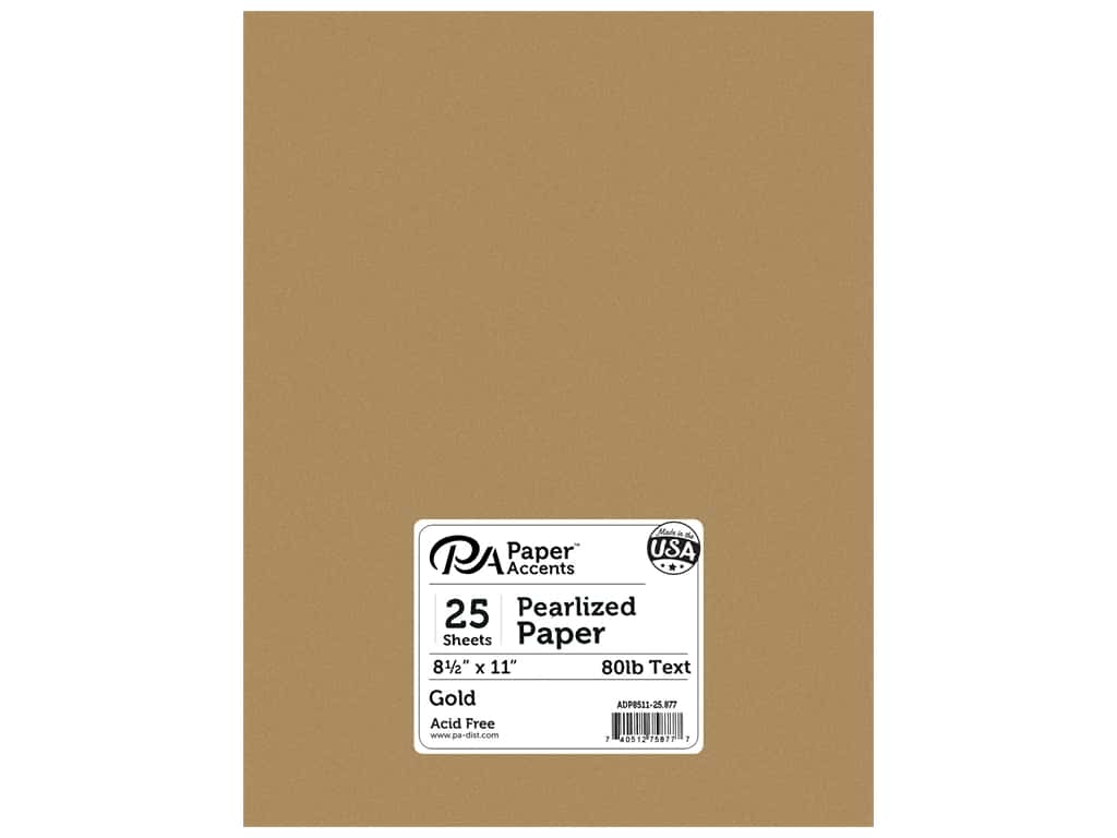 Paper Accents Pearlized Paper 8 1/2 x 11 in. #877 Gold 25 pc.