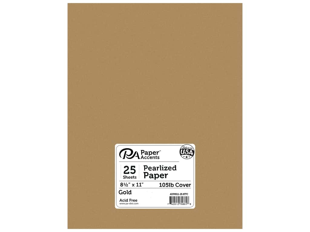 Paper Accents Cardstock 8 1/2 x 11 in. #877C Pearlized Gold 25 pc.