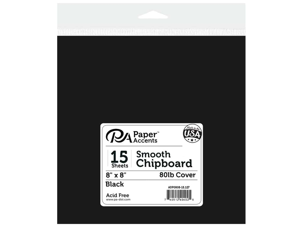 Paper Accents Cardstock 8 x 8 in. #127 Smooth Black 15 pc.