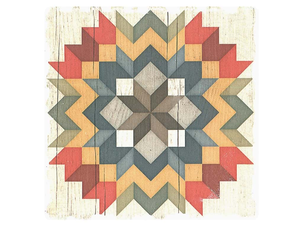 Graphic Impressions Barn Quilts Coaster Carpenter's Star (6 pieces)