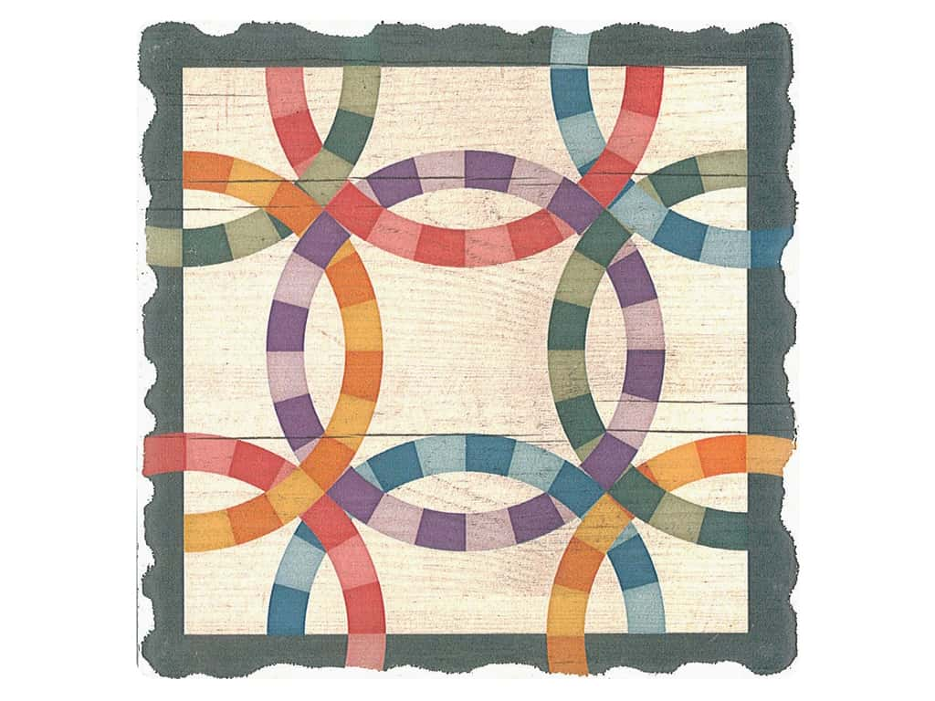 Graphic Impressions Barn Quilts Coaster Double Wedding Ring (6 pieces)
