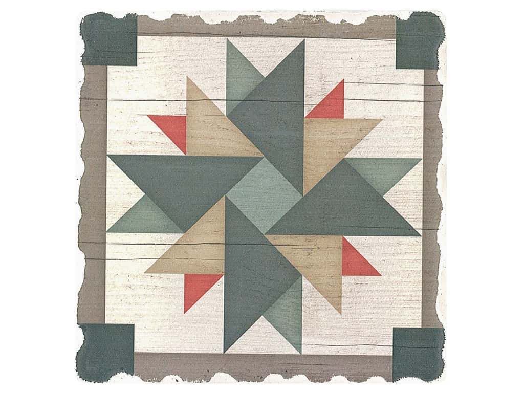Graphic Impressions Barn Quilts Coaster Windmill (6 pieces)