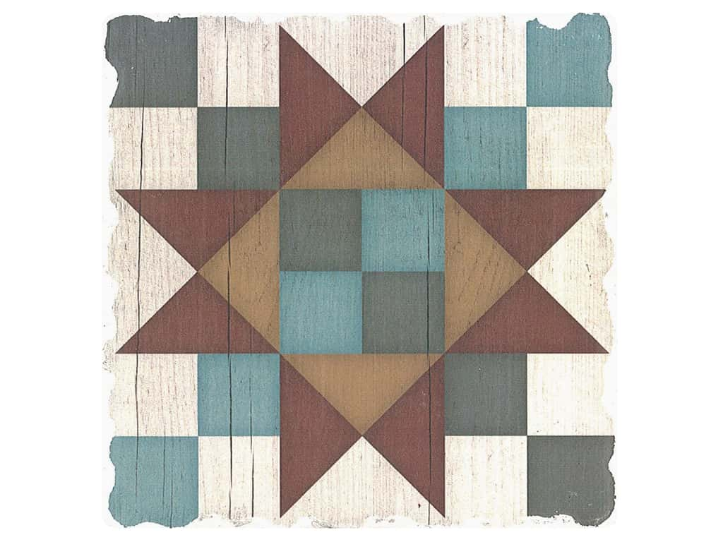 Graphic Impressions Barn Quilts Coaster Friendship Star (6 pieces)