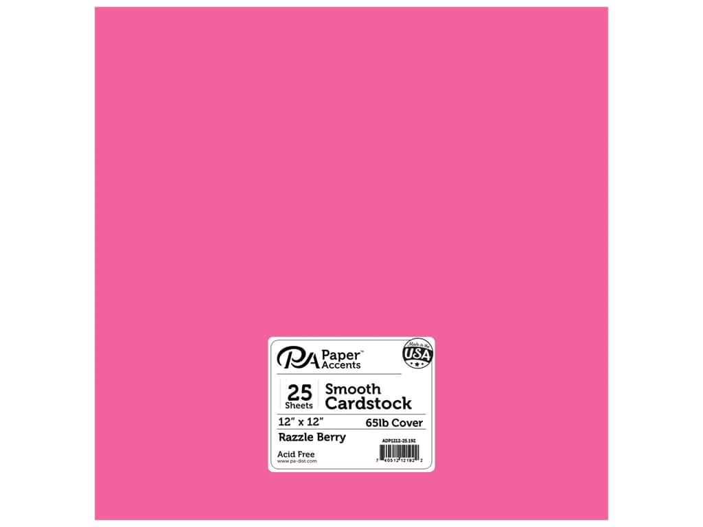 Paper Accents Cardstock 12 x 12 in. #192 Smooth Razzle Berry 25 pc.