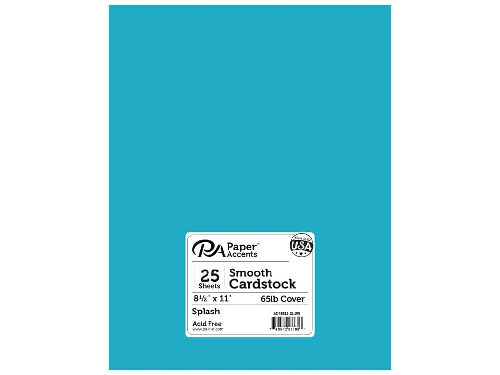 Paper Accents Cardstock 8 1/2 x 11 in. #188 Smooth Splash (25 sheets)