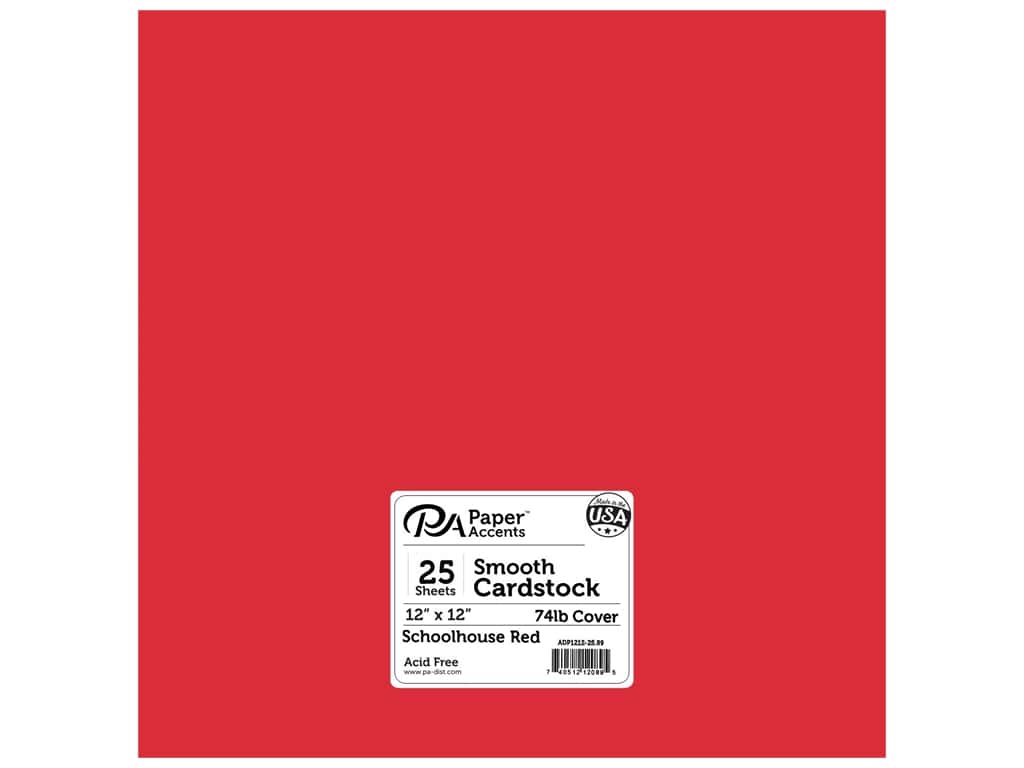 Paper Accents Cardstock 12 x 12 in. #89 Smooth Schoolhouse Red 25 pc.