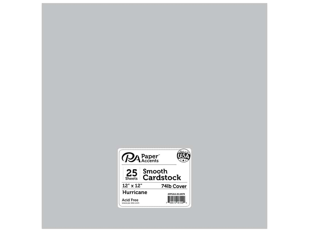 Paper Accents Cardstock 12 x 12 in. #18078 Smooth Hurricane 25 pc.
