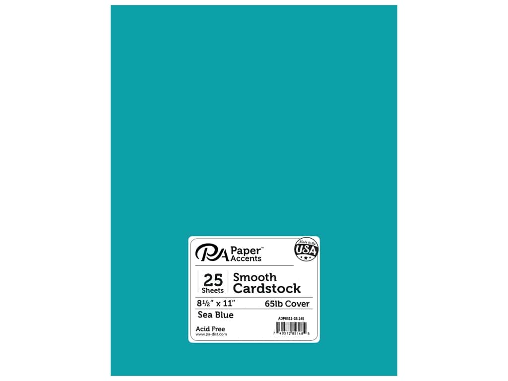 Paper Accents Cardstock 8 1/2 x 11 in. #145 Smooth Sea Blue 25 pc.