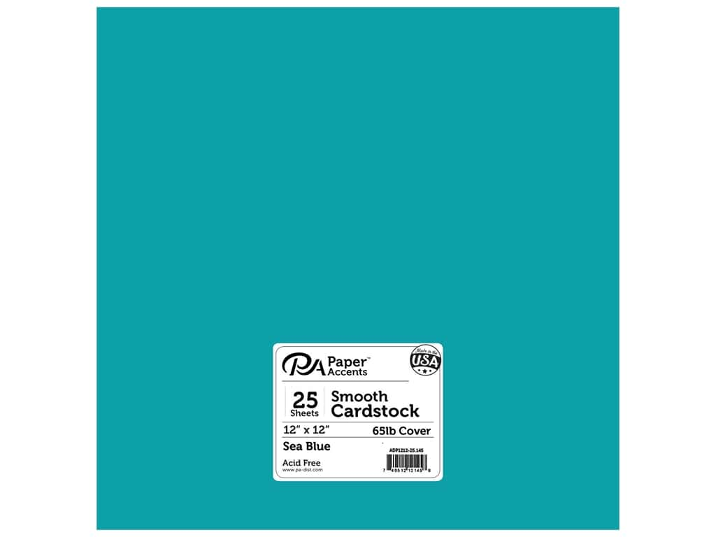 Paper Accents Cardstock 12 x 12 in. #145 Smooth Sea Blue (25 sheets)