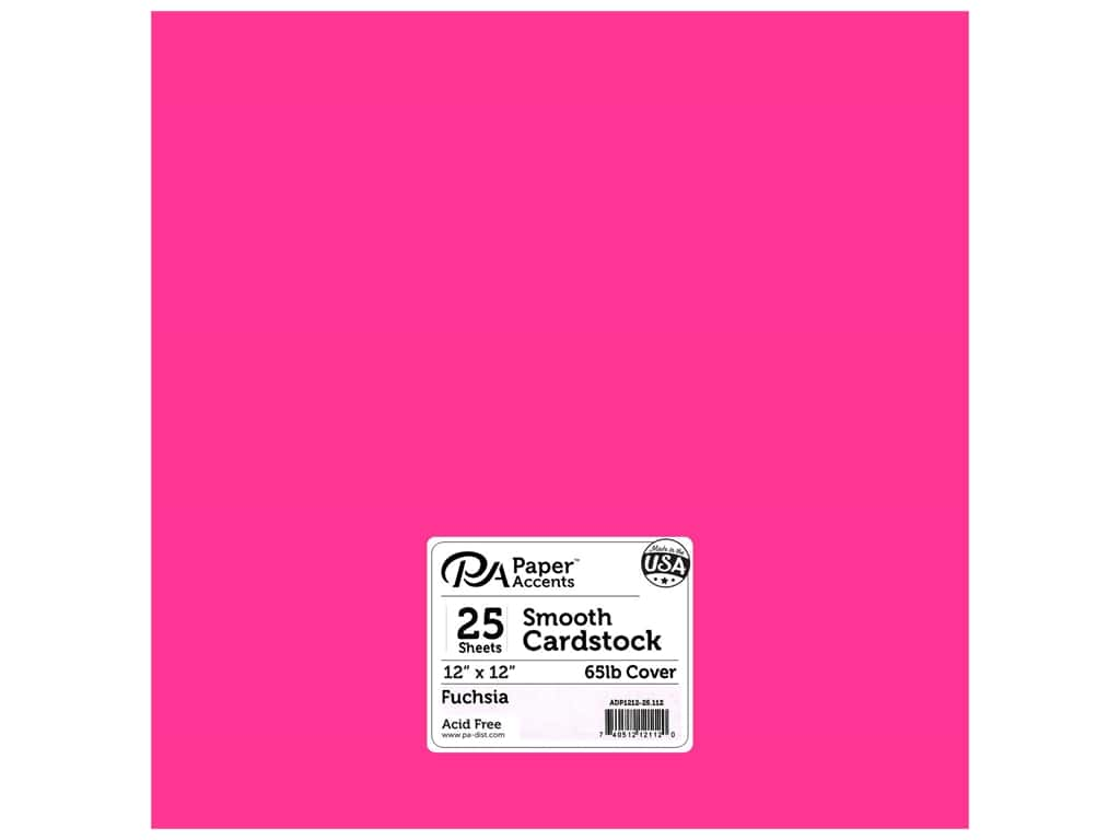 Paper Accents Cardstock 12 x 12 in. #112 Smooth Fuchsia 25 pc.