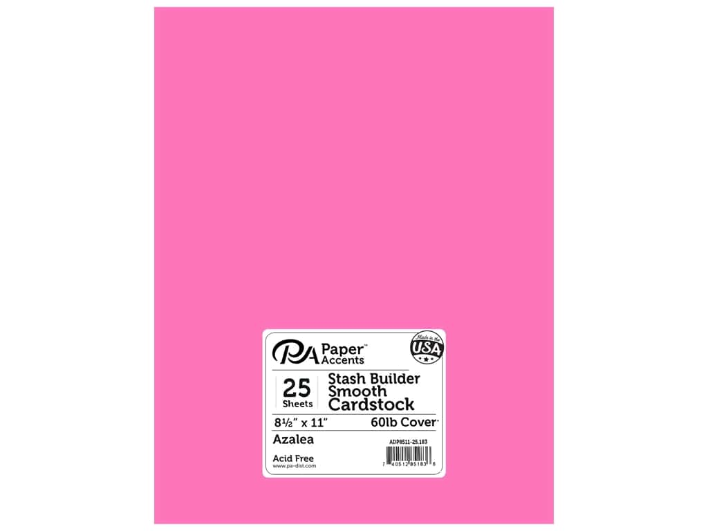Paper Accents Cardstock 8 1/2 x 11 in. #183 Stash Builder Azalea 25 pc.