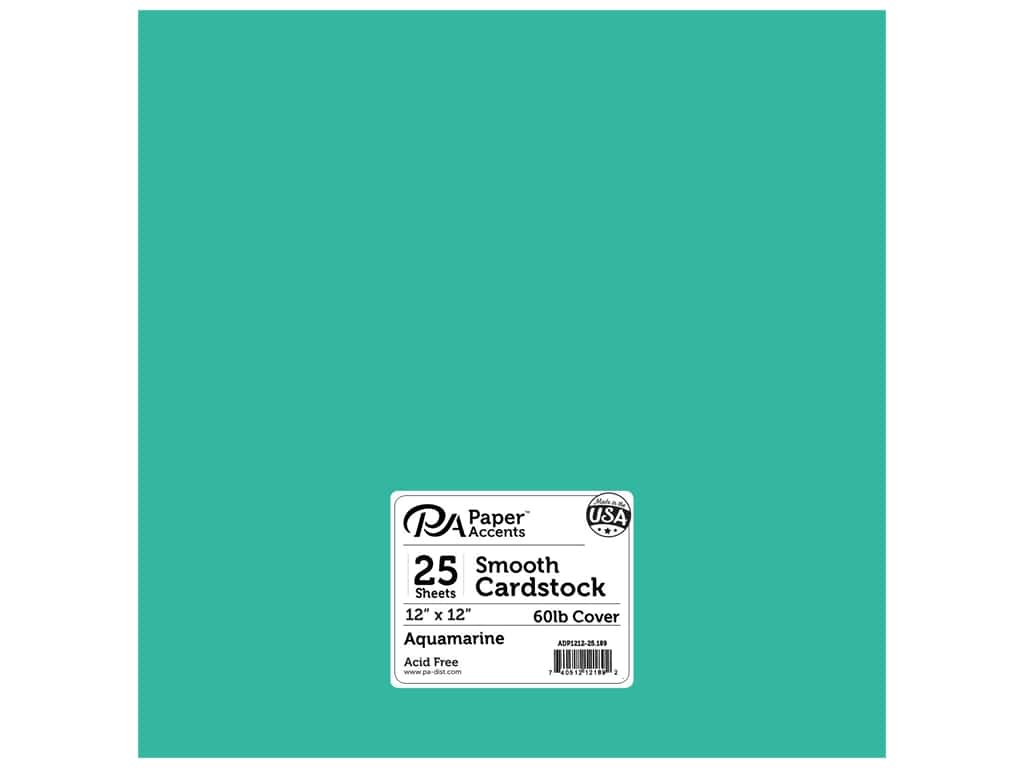 Paper Accents Cardstock 12 x 12 in. #189 Smooth Aquamarine (25 sheets)
