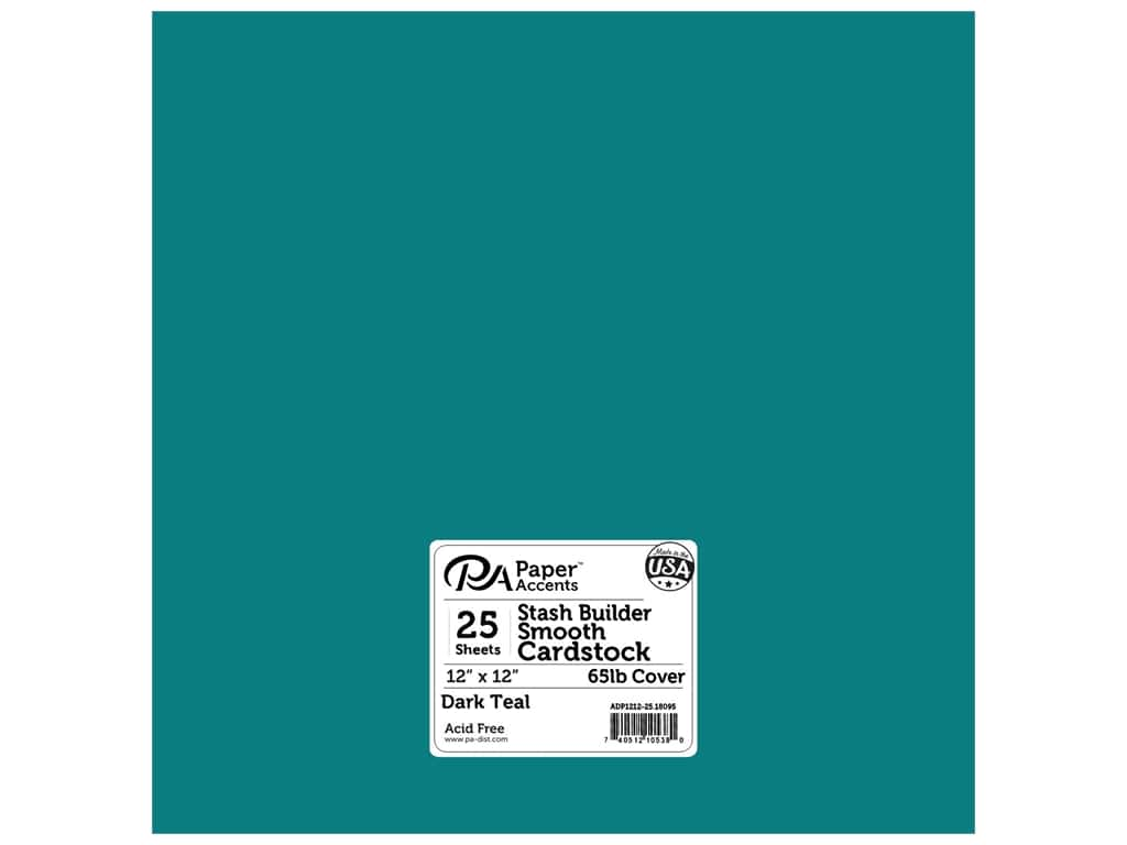 Paper Accents Cardstock 12 x 12 in. #18095 Stash Builder Dark Teal (25 sheets)