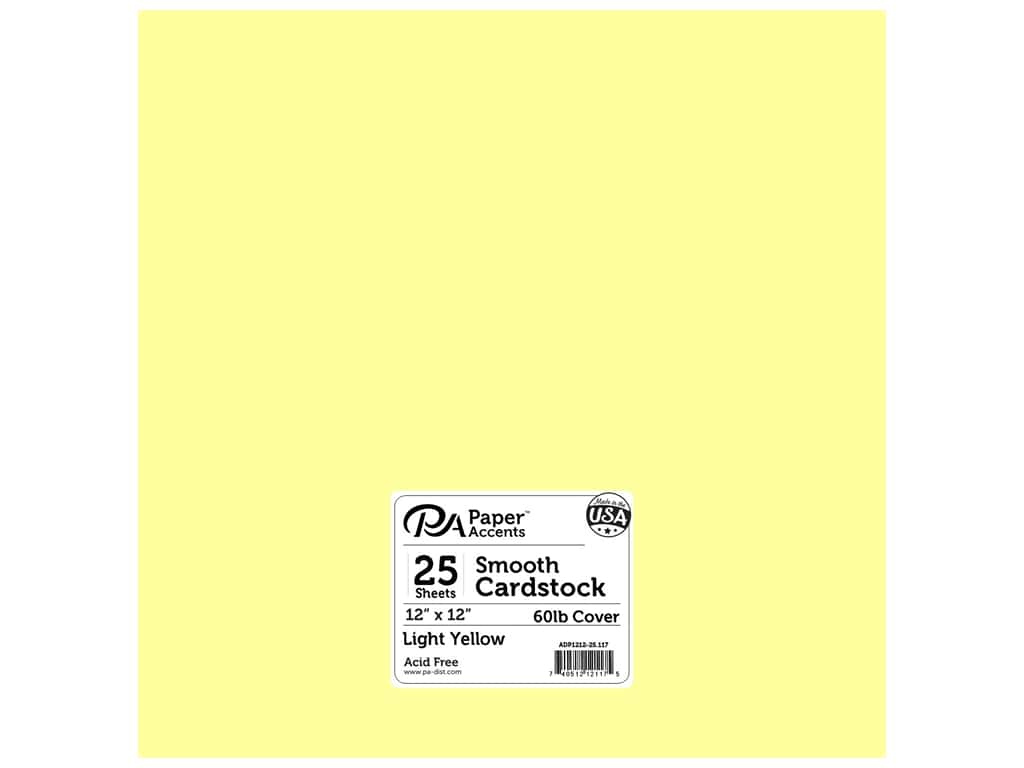Paper Accents Cardstock 12 x 12 in. #117 Smooth Light Yellow (25 sheets)