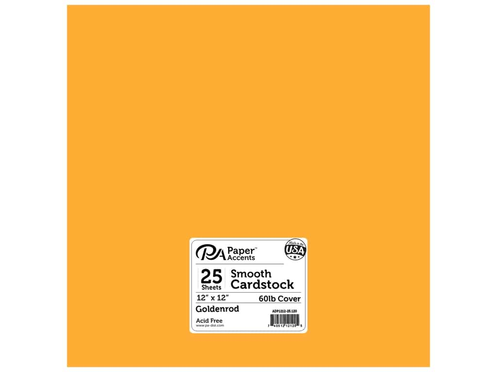 Paper Accents Cardstock 12 x 12 in. #120 Smooth Goldenrod 25 pc.