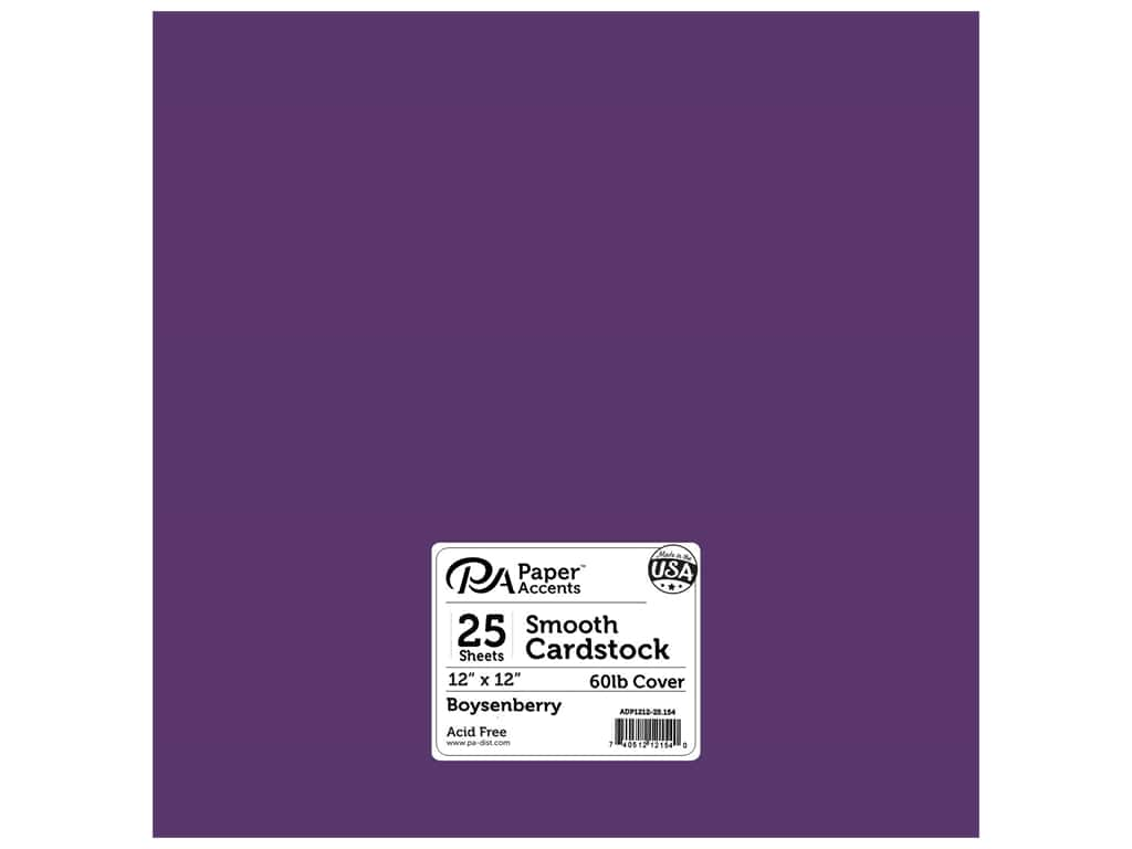 Paper Accents Cardstock 12 x 12 in. #154 Smooth Boysenberry 25 pc.