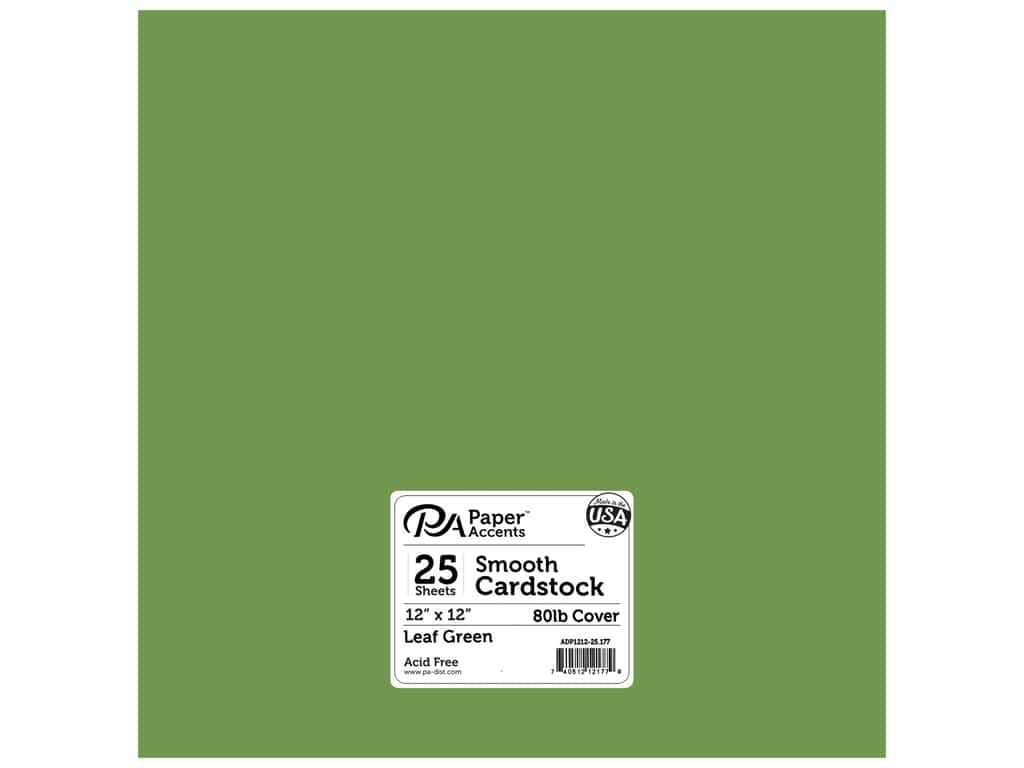 Paper Accents Cardstock 12 x 12 in. #177 Smooth Leaf Green 25 pc.