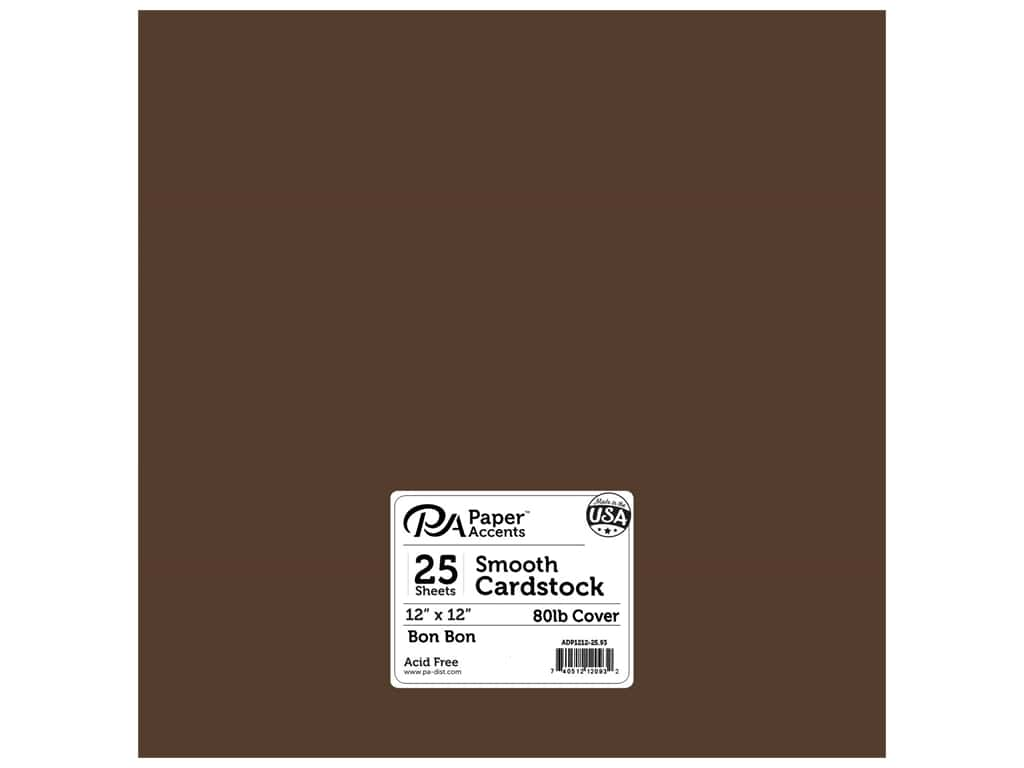 Paper Accents Cardstock 12 x 12 in. #93 Smooth Bon Bon 25 pc.