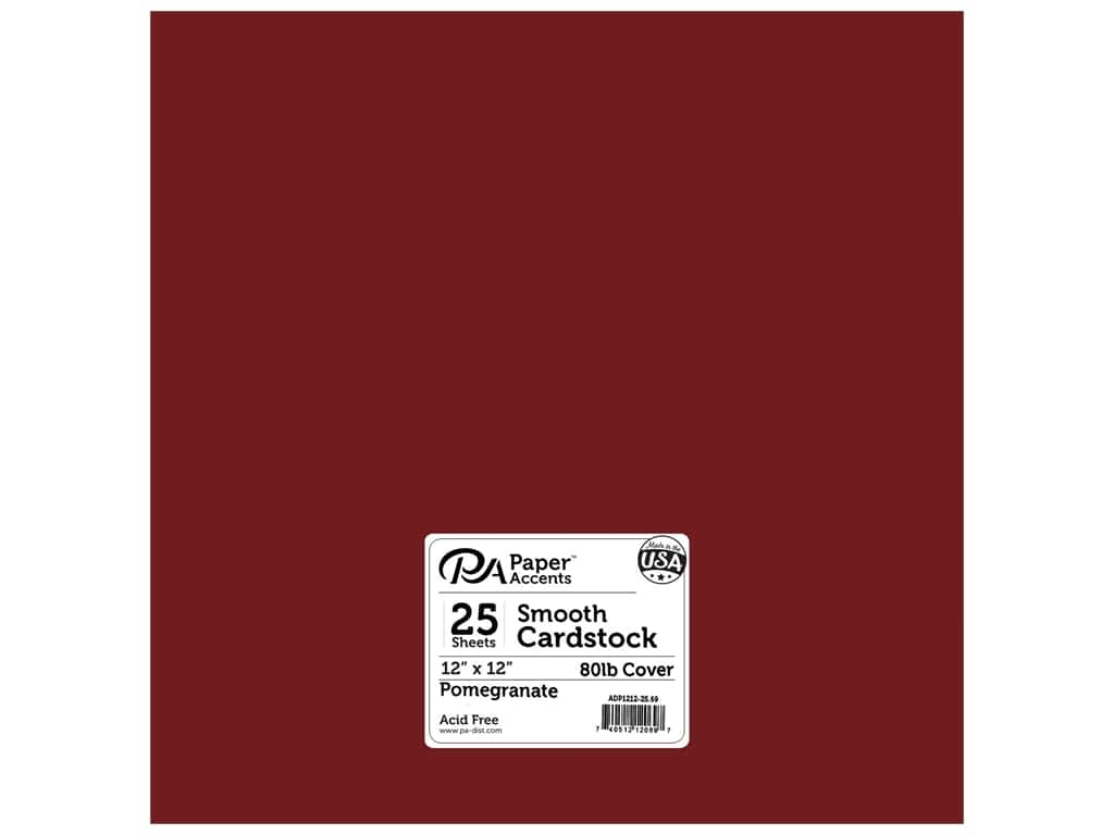Paper Accents Cardstock 12 x 12 in. #69 Smooth Pomegranate 25 pc.