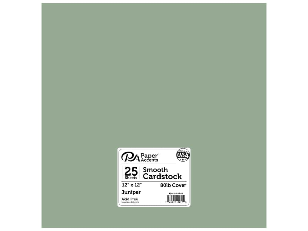 Paper Accents Cardstock 12 x 12 in. #64 Smooth Juniper 25 pc.