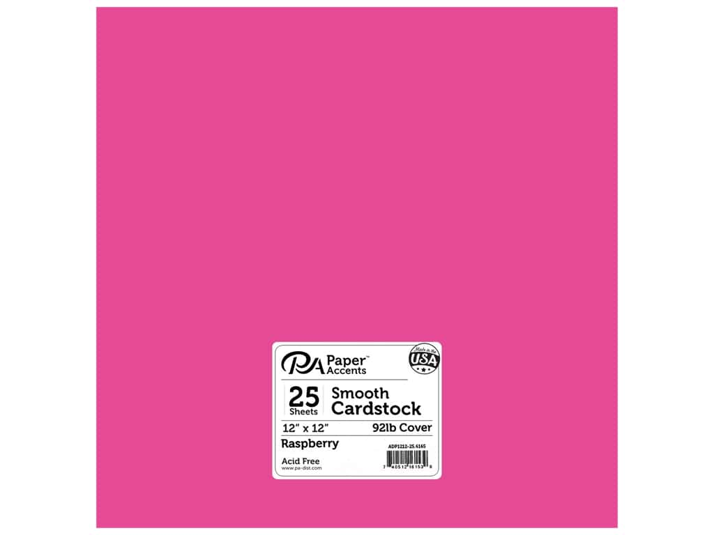 Paper Accents Cardstock 12 x 12 in. #6165 Smooth Raspberry 25 pc.