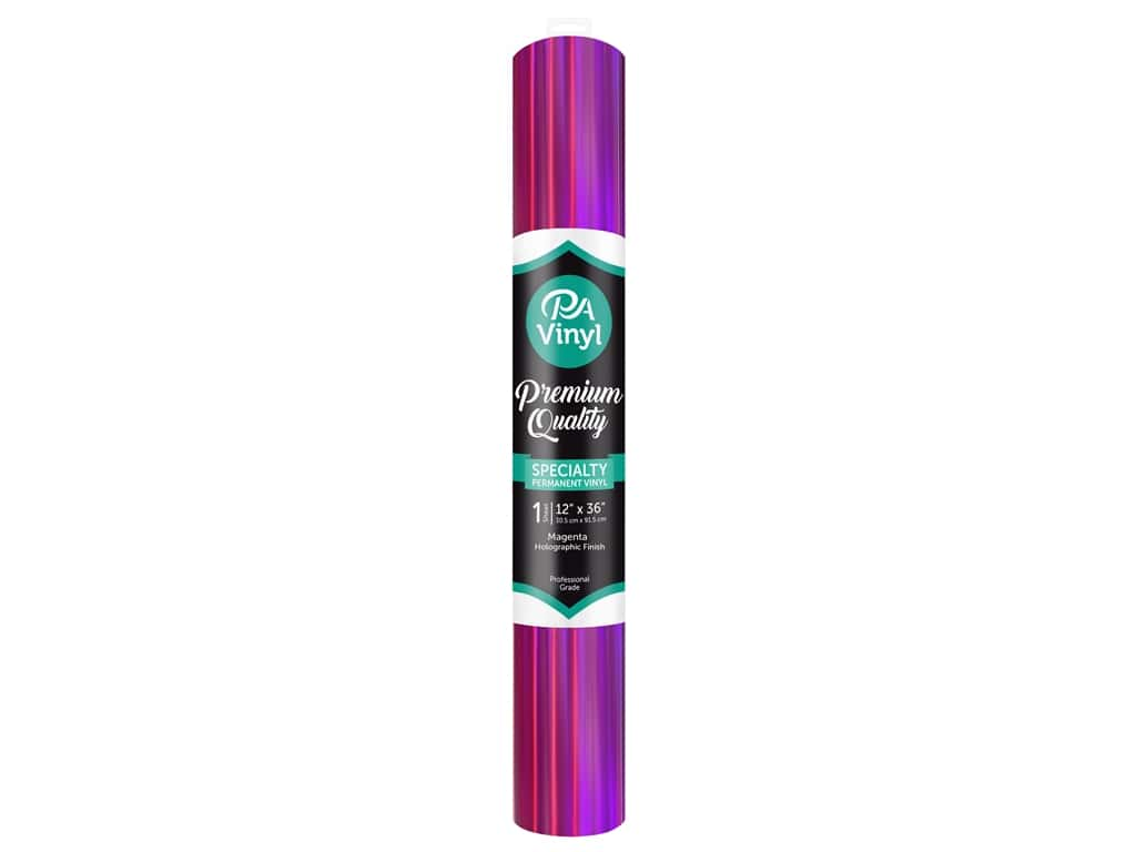 PA Adhesive Vinyl 12 x 36 in. Permanent Holographic Magenta