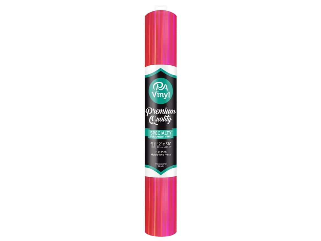 PA Adhesive Vinyl 12 x 36 in. Permanent Holographic Hot Pink