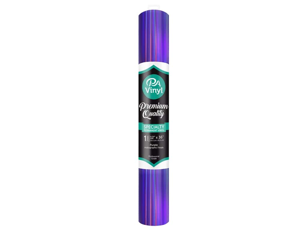 PA Adhesive Vinyl 12 x 36 in. Permanent Holographic Purple