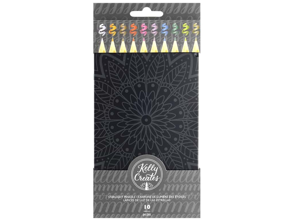 American Crafts Collection Kelly Creates Starlight Pencils 10 pc