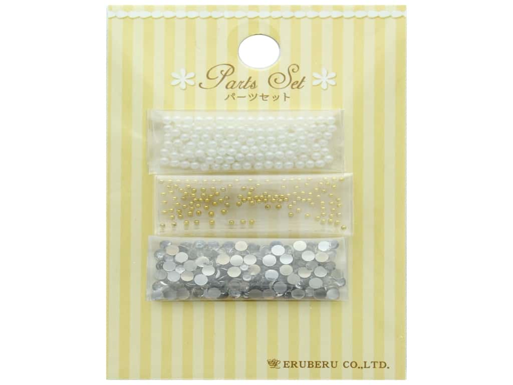 Resinate Decorative Parts Set Assorted White & Gold