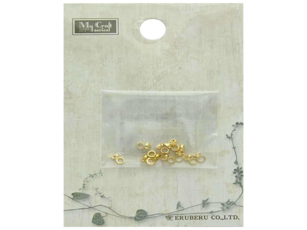 Resinate Eyebolt Cap Gold 10pc