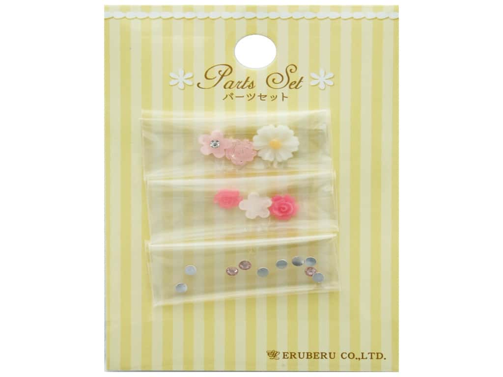 Resinate Decorative Parts Set Assorted Pink & White