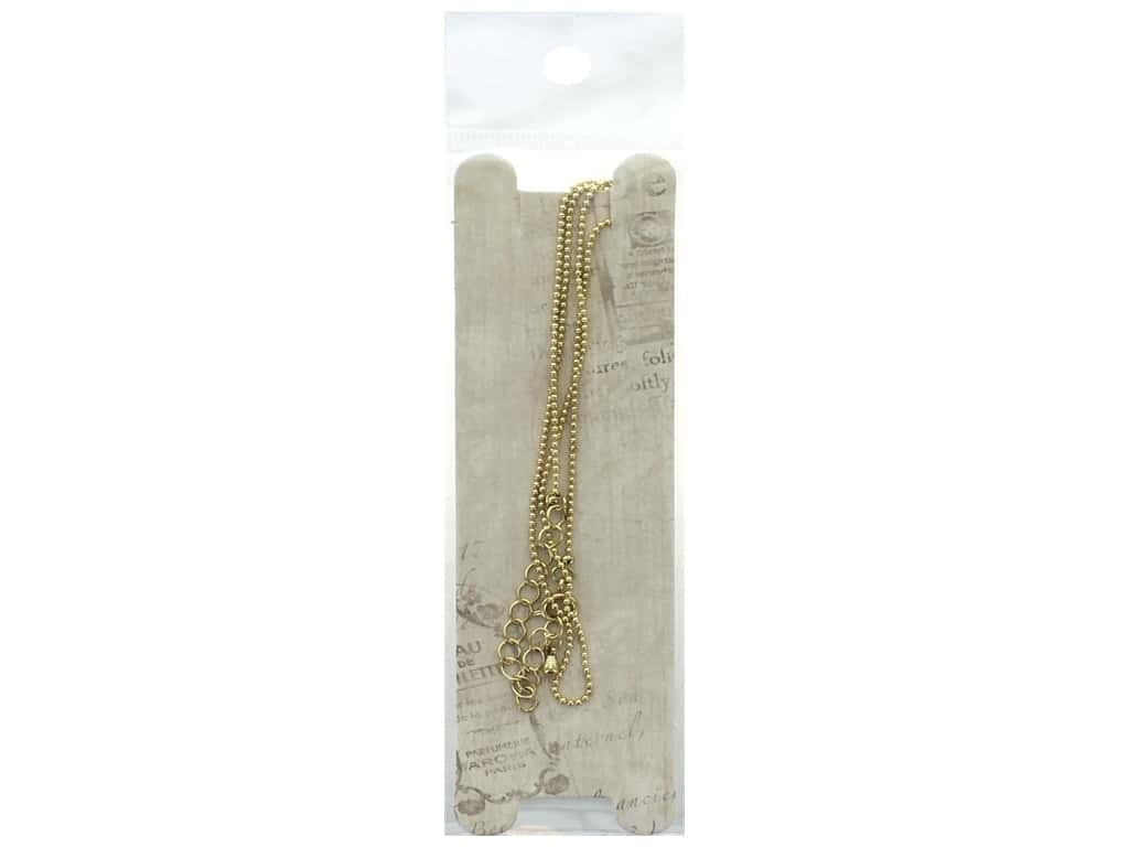 Resinate Necklace Ball Chain 45 cm Gold