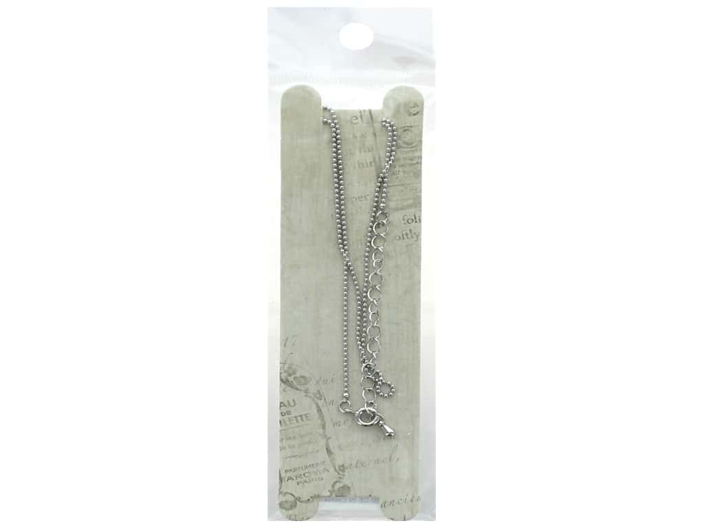 Resinate Necklace Ball Chain 45cm Silver