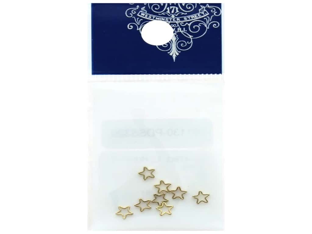 Resinate Charm Frame Star Tiny Gold 8 pc