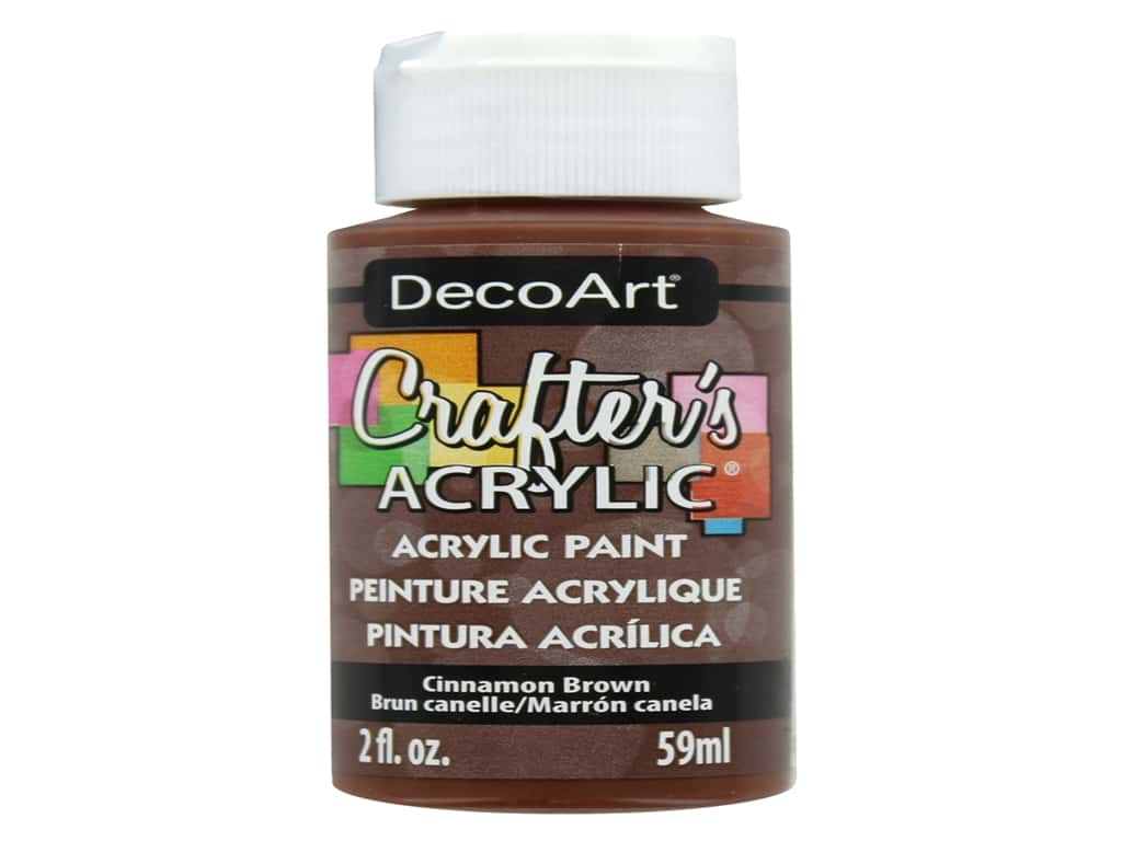 DecoArt Crafter's Acrylic Paint 2 oz. #12 Cinnamon Brown