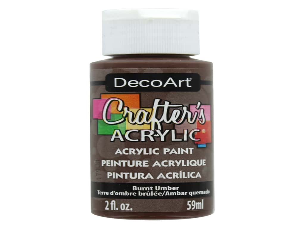DecoArt Crafter's Acrylic Paint 2 oz. #16 Burnt Umber