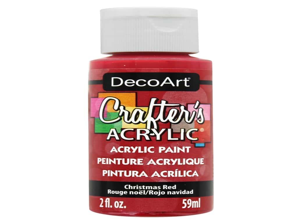 DecoArt Crafter's Acrylic Paint 2 oz. #20 Christmas Red