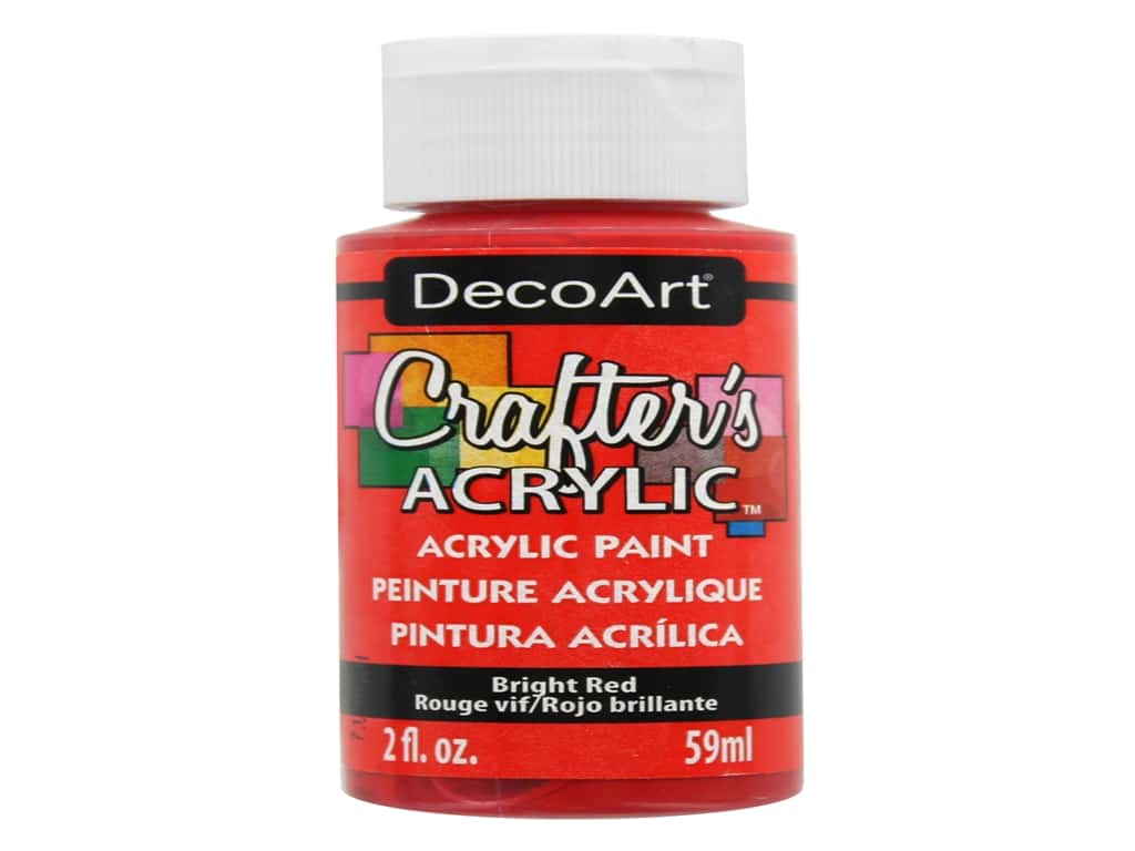 DecoArt Crafter's Acrylic Paint 2 oz. #22 Bright Red