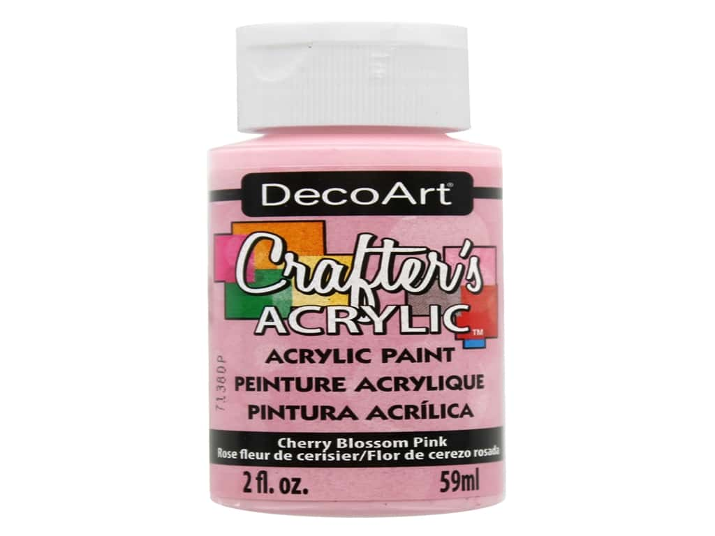 DecoArt Crafter's Acrylic Paint 2 oz. #24 Cherry Blossom Pink