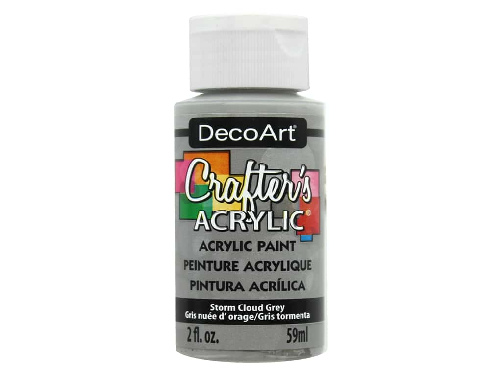 DecoArt Crafter's Acrylic Paint 2 oz. #94 Storm Cloud Grey