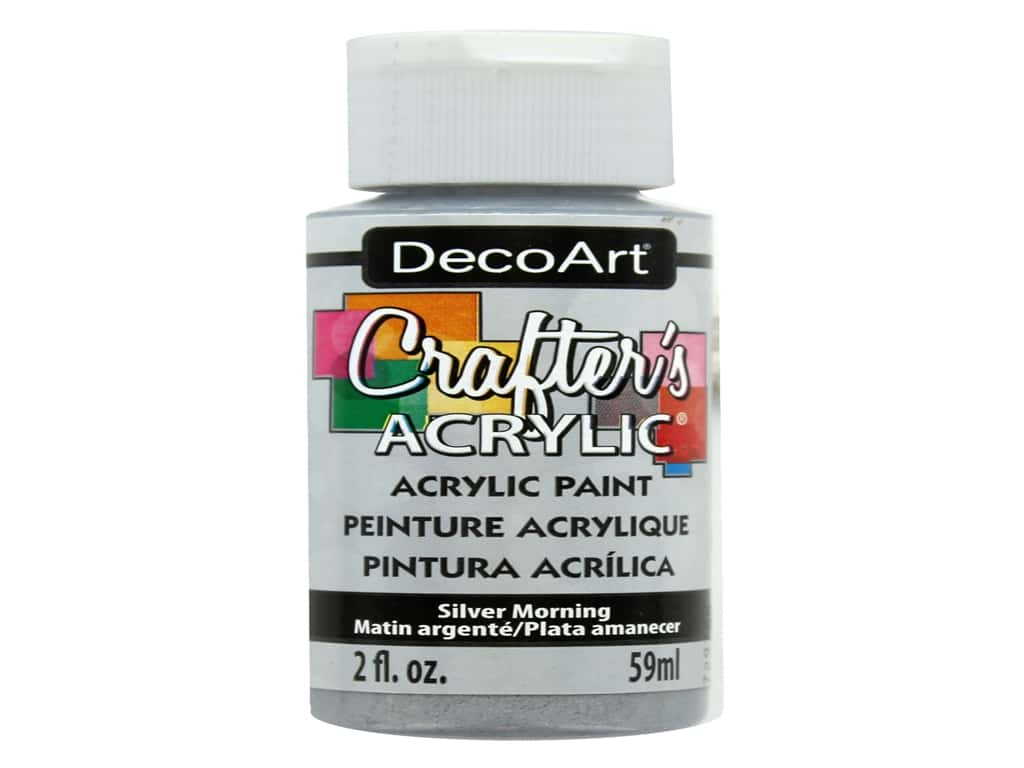 DecoArt Crafter's Acrylic Paint 2 oz. #95 Silver Morning
