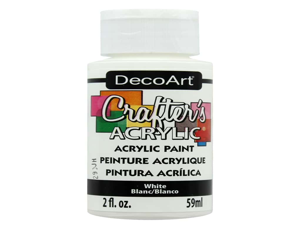DecoArt Crafter's Acrylic Paint - #1 White 2 oz.