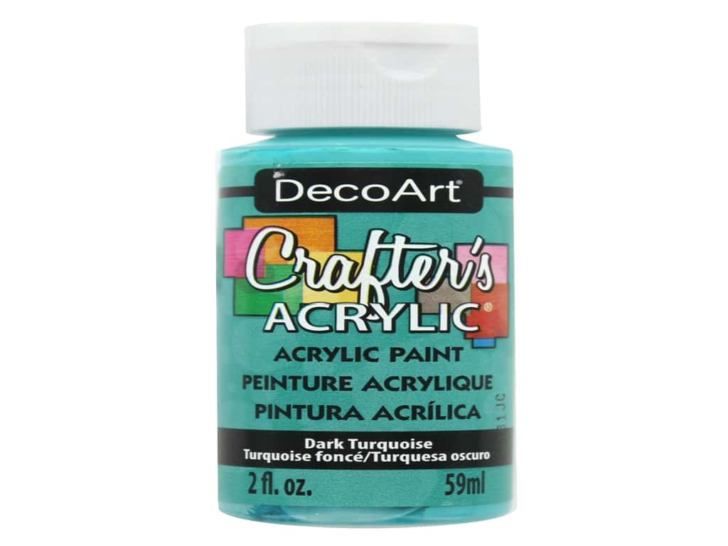 DecoArt Crafter's Acrylic Paint 2 oz. #43 Dark Turquoise