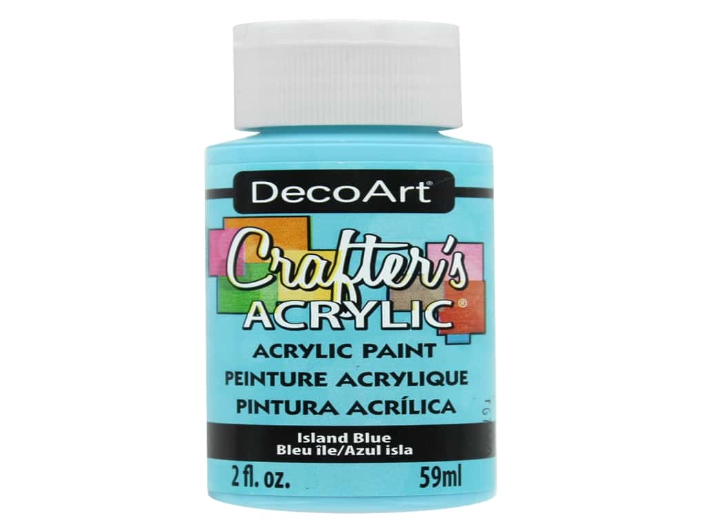 DecoArt Crafter's Acrylic Paint - #123 Island Blue 2 oz.