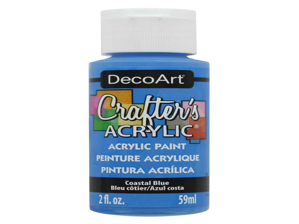 DecoArt Crafter's Acrylic Paint 2 oz. #124 Coastal Blue